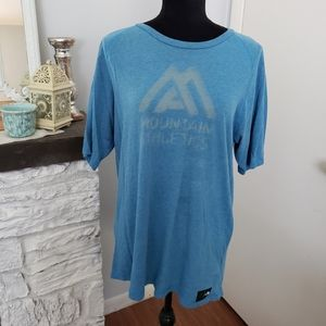The North Face Mountain Athletics blue tee. Sz L